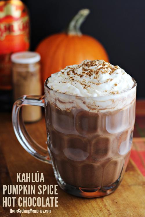Kahlua Pumpkin Spice Hot Chocolate