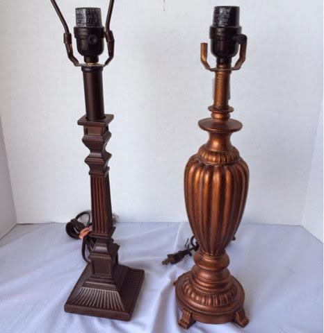 Americana Chalky Paint Lamp DIY @craftsavvy #craftwarehouse #diy