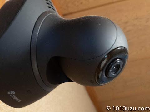 自宅のネットワークカメラはLEDが仕込んである部分が曲面になっている