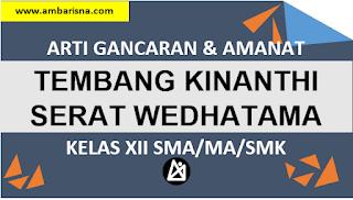 Gancaran Tembang Kinanthi Serat Wedhatama