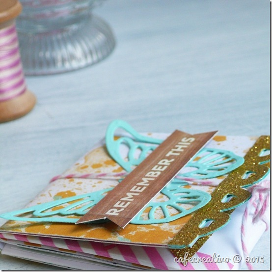 mini album - tutorial - scrapbooking - scrap - big shot sizzix - by cafecreativo