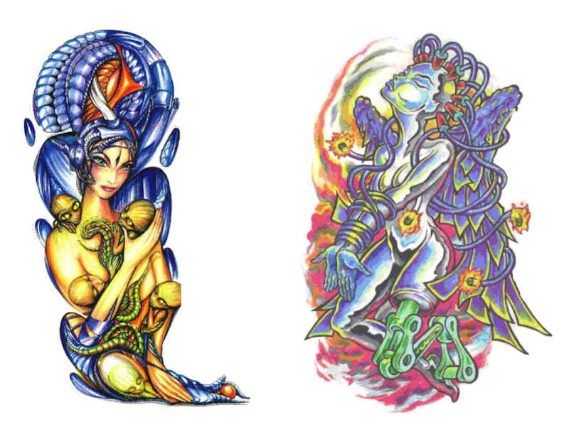 Design Of Magical Tattoo 4, Fantasy Tattoo Designs