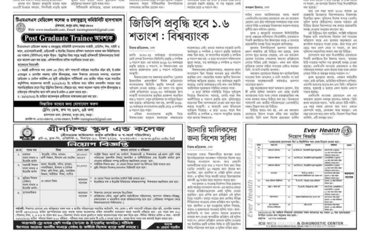 প্রথম আলো চাকরি বাকরি ১৫ জানুয়ারি ২০২১ - prothom alo chakri bakri 15 january 2021