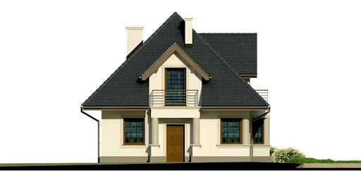 Dom przy Sielskiej 2 - Elewacja przednia