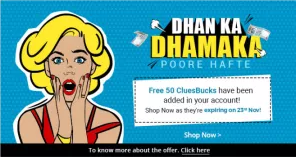 ShopClues - Free 50 Rs Cluebucks For All Users