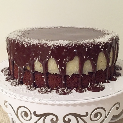 Olles Himmelsglitzerdings Schoko Kokos Torte Bounty Torte Tea