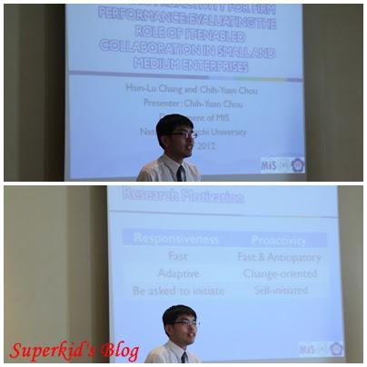 我在PACIS 2012會場的報告剪影。