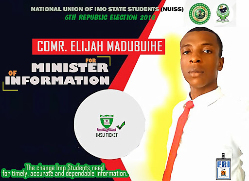 Our Very Own Informant Joins Race For NUISS 2018 Election.