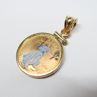 999 Gold Coin Pendant