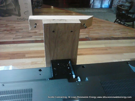 Additional Close Up View of Adjust Flat Screen TV Stand for Shady Jacks Saloon New Bar Design