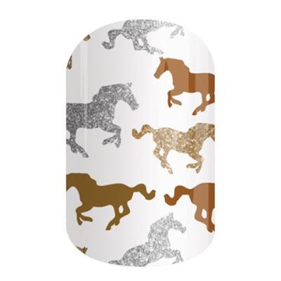 Beautiful, Apply Yourself at Home with a Hairdryer Nail Wraps! - Horses - Ascot Nails