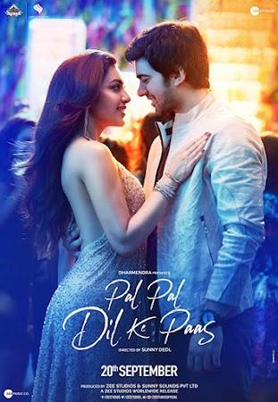Poster Of Bollywood Movie Pal Pal Dil Ke Paas 2019 300MB Pdvd Full Hindi Movie