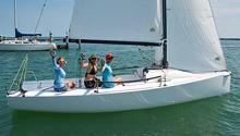 J/70 Bikini Cup sailing