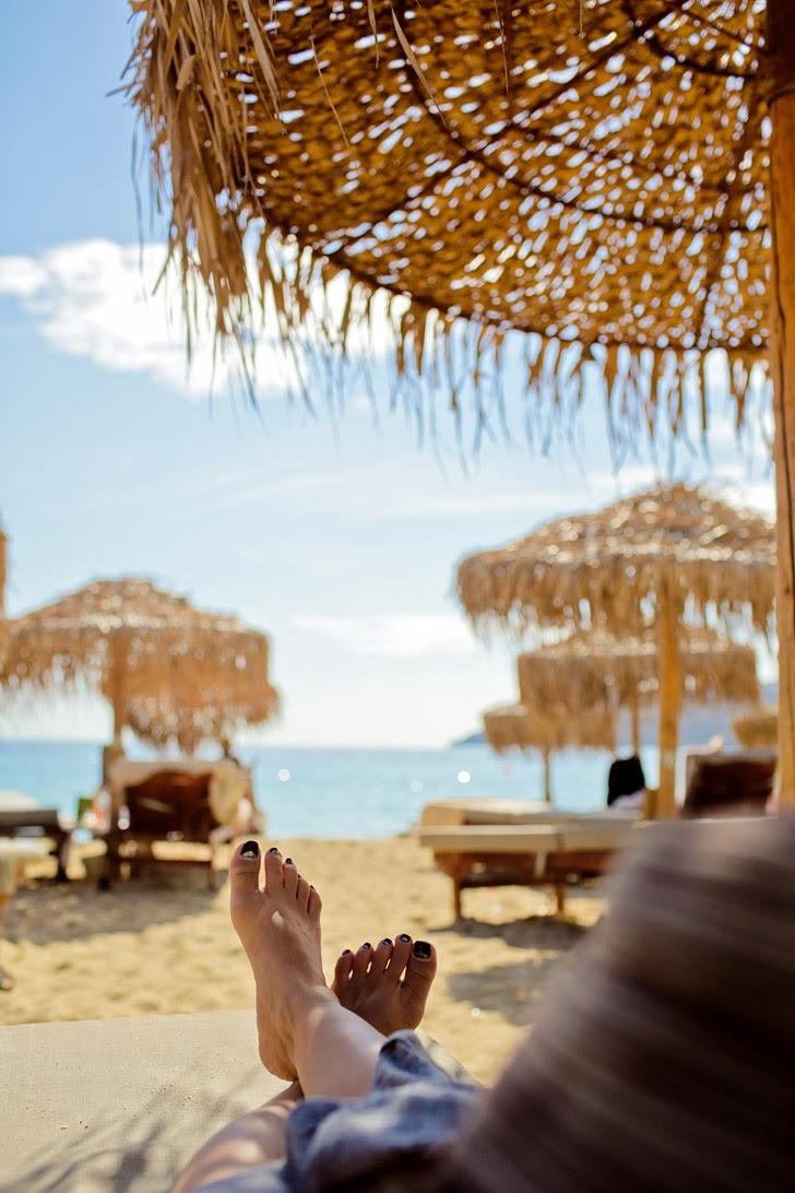 ελιά Elia Beach Mykonos Greece.