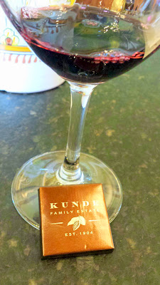 Tasting the Kunde 1904 Dessert Cuvee with a chocolate