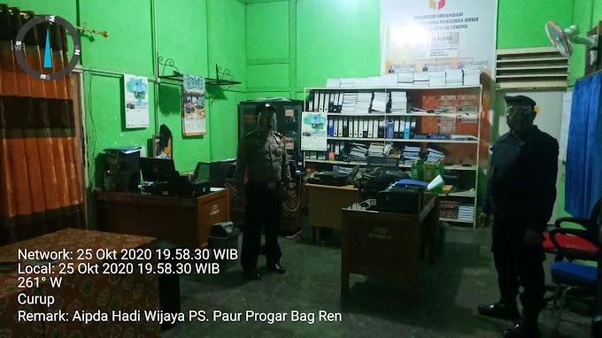 pengamanan di Kantor Bawaslu Kabupaten Rejang Lebong.