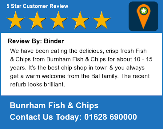 Burnham fish chips google for Fish customer service