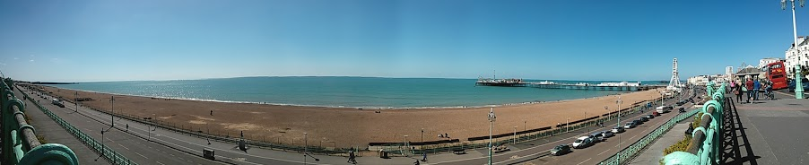 Brighton Seaside panorama Brighton Pier