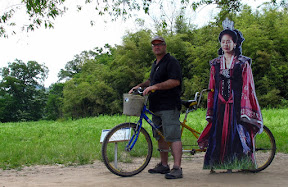 my Pops with the disinterested Korean princess cutout