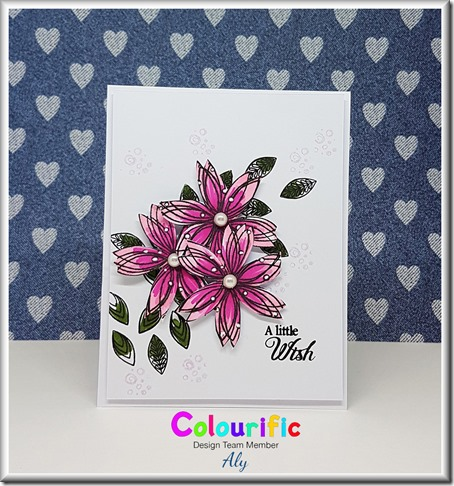 colourific card 26 A little wish florals with watermark