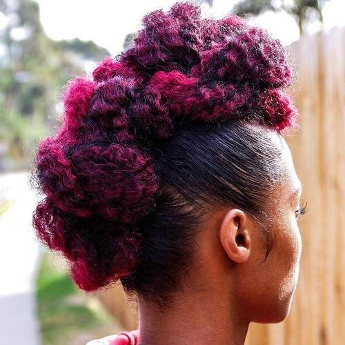 Pretty Natural Hair Mohawk Hairstyles for Black Women 2