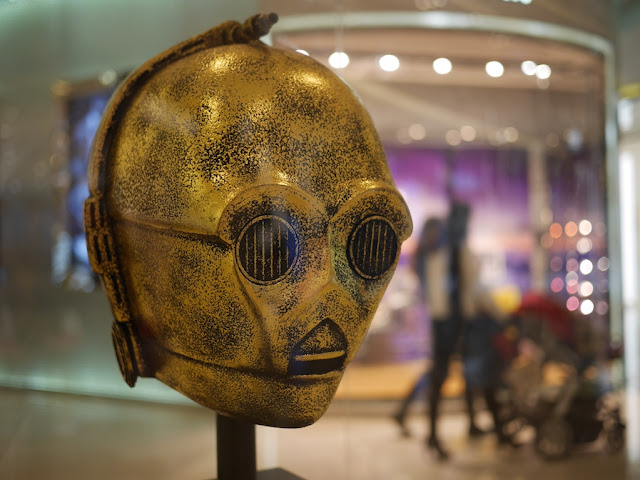 C3PO's head on display at the IAPM shopping center in Shanghai