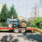Wonder why he does not paint his tractor red