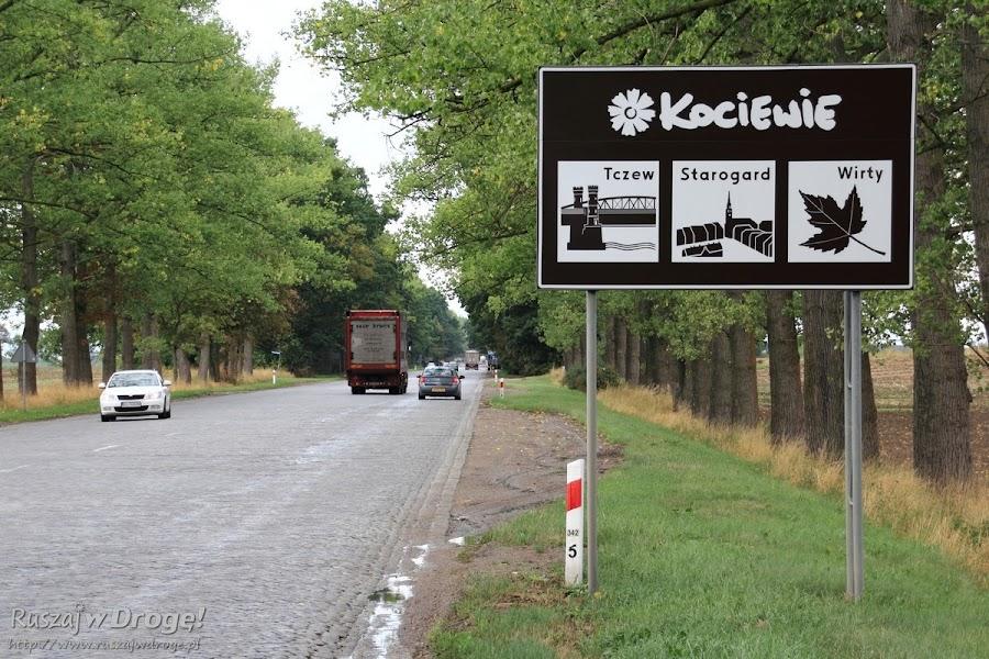 Kociewski Modraczek na tablicy drogowej