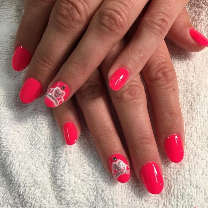 Princess Acrylic Nails: Crown Nail Design For 2017 New