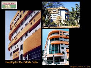 Photo: Senior Housing, Jaffa. Exterior views.