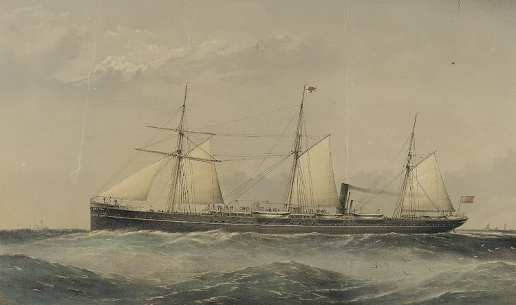 Litografia del vapor SULTAN en navegación. William Foster. national Maritime Museum.jpg