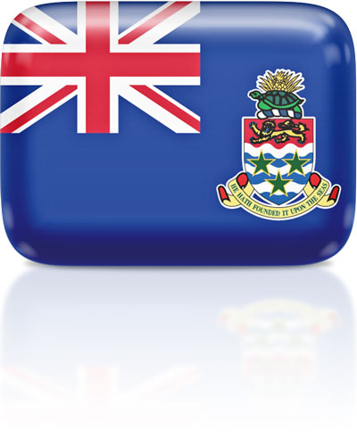 Caymanian flag clipart rectangular