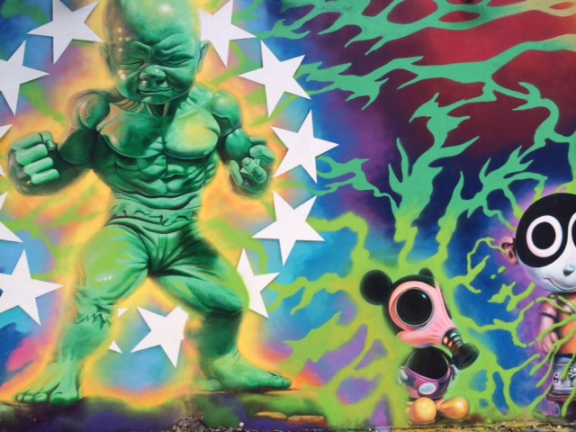 One of many outsized murals in Miami's vibrant Wynwood Arts District. From 5 Travel Habits That Instantly Change Your Mood