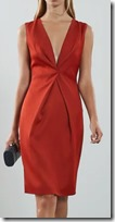 Reiss Twist Front Dress in Red