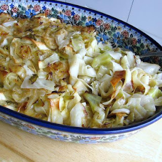 Sweet-and-Sour Cabbage Over Noodles