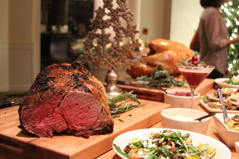 Prime Rib. Texas Hotels Rustle Up Some Grub for Holidays - here, at La Cantera Hill Country Resort SweetFire Kitchen restaurant