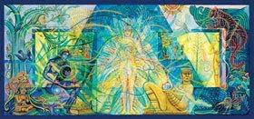 Mayahuel Mesoamerican Agricultural Goddess Image