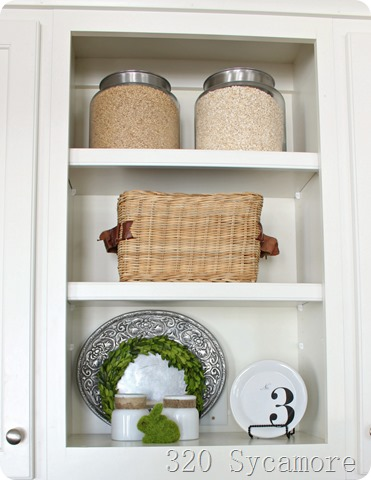spring kitchen shelves