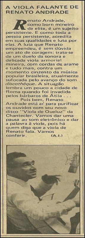 Renato Andrade, A viola falante de Renato Andrade - Música 09-1979