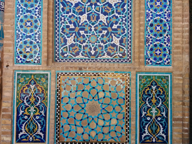 Traditional designs on the mosques of Iran