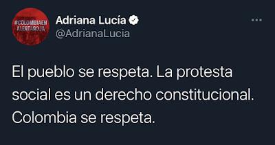 Tweet Adriana Lucia