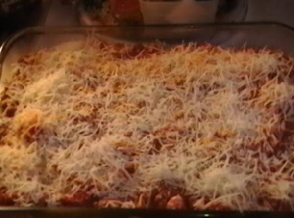 Step 2 LASAGNE: Layer noodles, meat and cheese. You should be able to get...