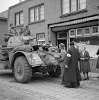 T17 Staghound of the Divisional Postal Unit of the Guards Armoured Division. Date: 1944. Photographer: Willem van de Poll. Source: Dutch National Archive