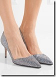 SJP by Sarah Jessica Parker glittered leather pumps