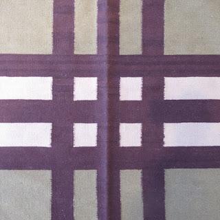 Oversized Plaid Wool Area Rug 2