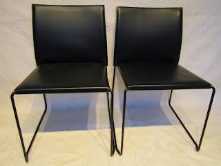 Enrico Pellizoni Black Chair Pair
