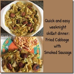 Fried Cabbage and Smoked Sausage