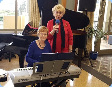 Diane Lyons and Margaret Black (vocals) duetting.