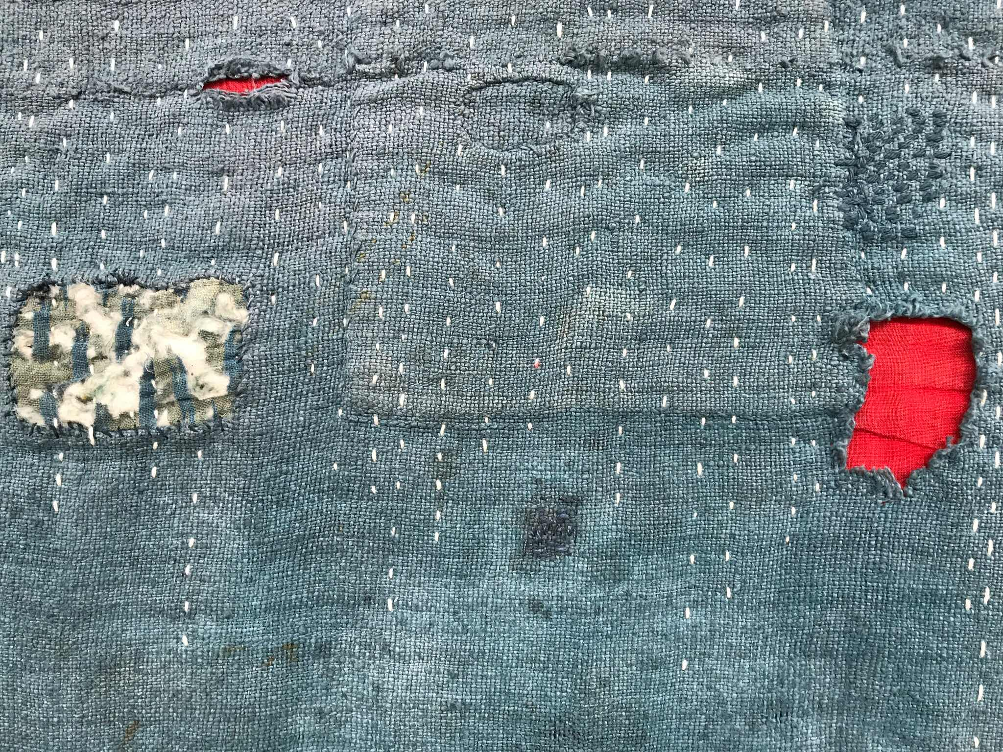 Detail of patches and stitching