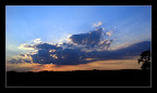 Sonnenuntergang in Krenglbach mit Handy K800i #2